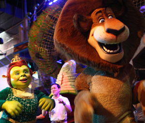 Mascots of Princess Fiona and Alex the Lion at DreamPlay, Manila
