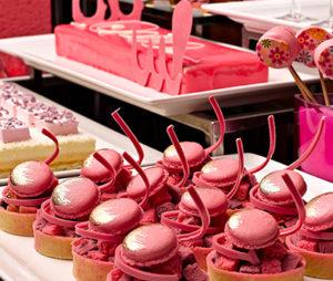 Pink desserts at the Pink Brunch, Equinox
