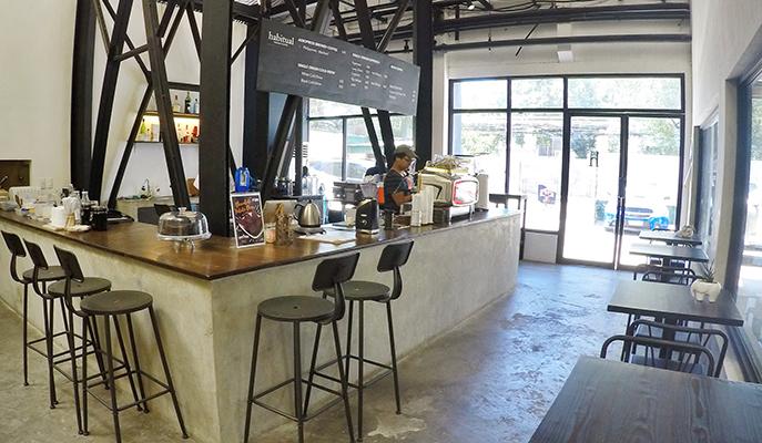 The interiors of Habitual Coffee