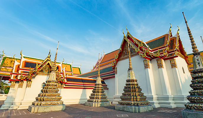 The exterior of Wat Mahathat