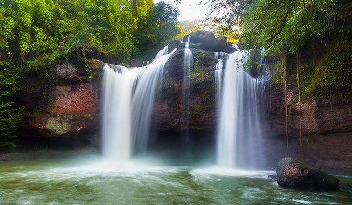 Heaw Suwat Waterfall at Khao Yai National Park
