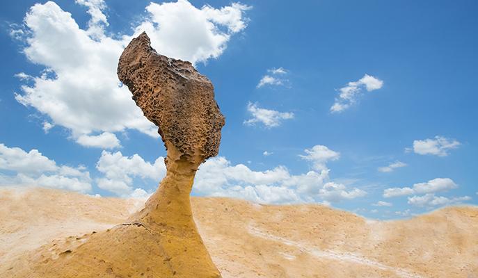 Queen Head Rock in Yehliu Geopark