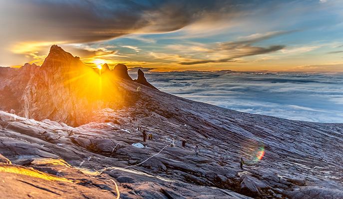 Sunrise on Mount Kinabalu