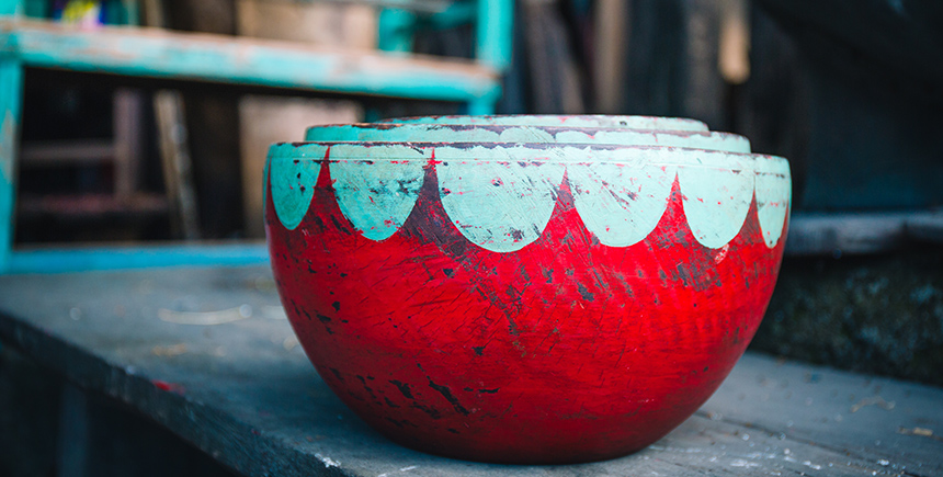 Mahogany nesting bowls from Bain Art