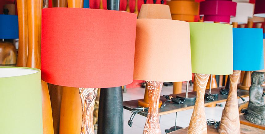 Retro-chic teak lamps from Riyan Lamp Shop
