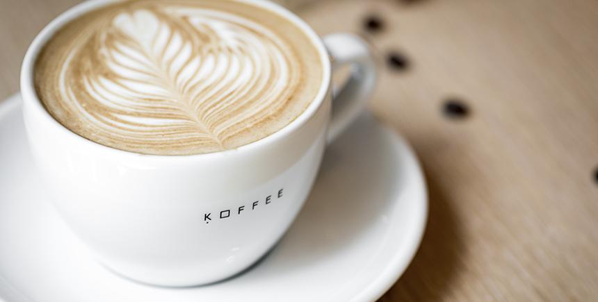 A latte at Omotesando Koffee
