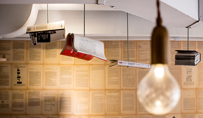 Literary-inspired decor at One Little Room