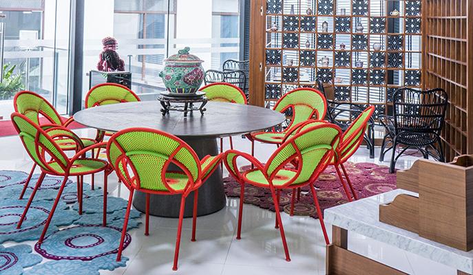 The lounge at Hotel Indigo Singapore Katong