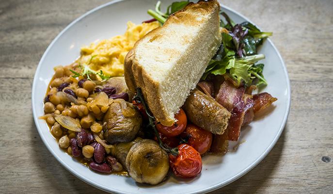 A breakfast platter at Toby's Estate