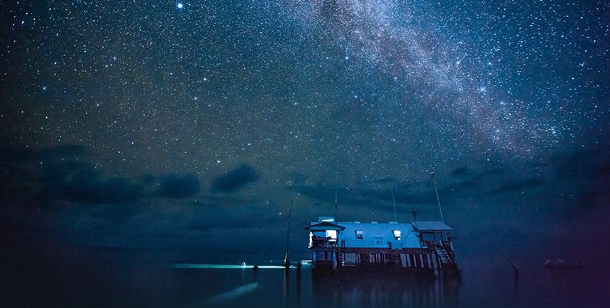 3.40am, the Milky Way over Tubbataha