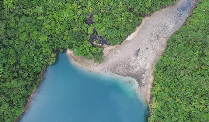 One of the many lagoons on Danjugan Island (Photo: Rhoda Dejito)